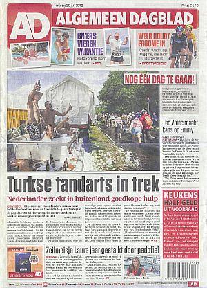 Artikel Algemeen Dagblad van 20 juli 2012