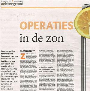 Artikel De Limburger van 31 juli 2012